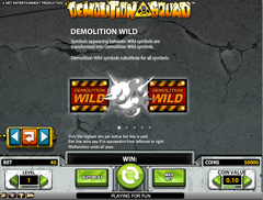 Вайлд символ игрового автомата Demolition squad