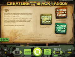 Ваилд символ игрового автомата Creature from the Black Lagoon