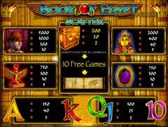 Играть в слот Book of Egypt онлайн